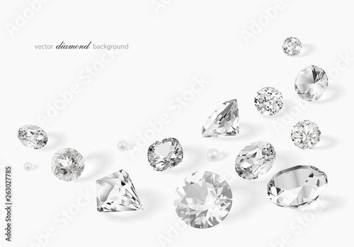Fotomural  Luxury background with diamonds for modern design