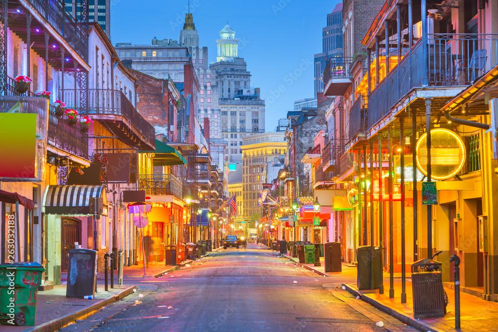 Fototapety, obrazy: Bourbon Street, New Orleans, Louisiana, USA
