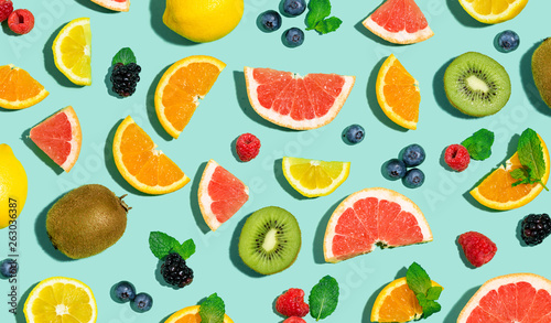 collection-of-mixed-fruits-overhead-view-flat-lay