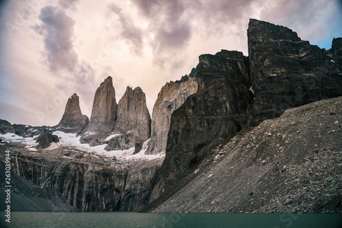 Fotografie, Obraz  Base Las Torres in Torres Del Paine National Park in the Patagonia Region of Sou