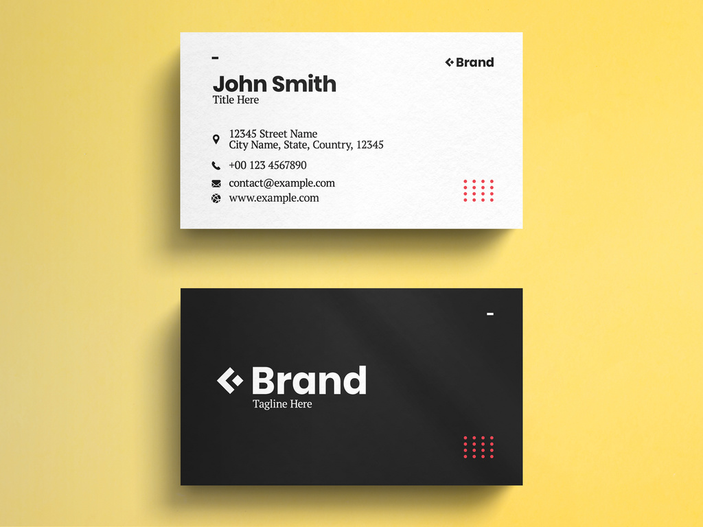 Black And White Minimalist Business Card Template