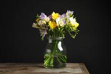 Bouquet Of Fresh Freesia Flowe...