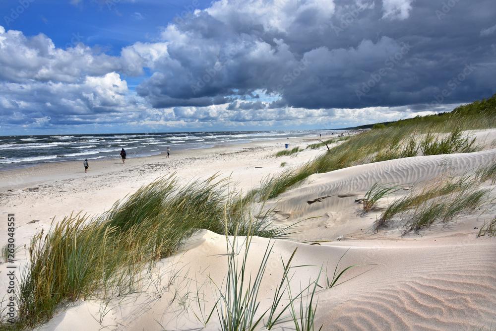 Fototapeta Morze Bałtyckie - Plaża - mierzeja wiślana - wydma Jantar