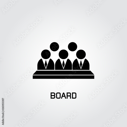 Fototapeta  board icon, group of business people