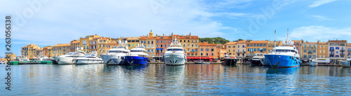 Boats in a port of Saint Tropez, France Canvas-taulu