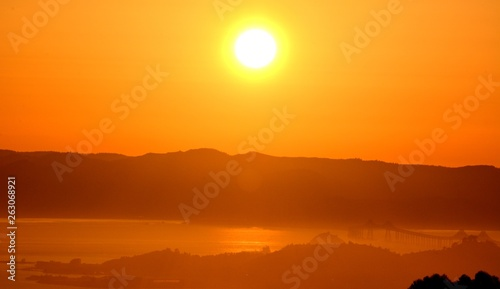 Canvas Prints Cuban Red Sunset Impressions from Berkeley on April 29, 2017, California USA