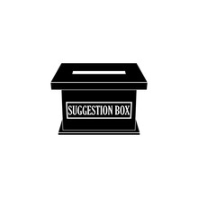 Suggestion Box With Feedback Notes, Icon Or Sign