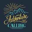 lettering quotes inspire.adventure is calling. Hand drawn lettering. t-shirt Hand drawn, Hand lettering fonts , Retro, vintage , sketched logotype, typography element vintage lettering banner poster