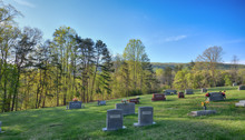 """""""The Smiths"""" Remote Blue Ridge Mountain Cemetary On A Spring Morning ZDS Americana Landscapes Collection"""
