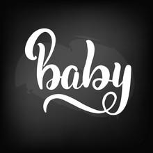 Blackboard Lettering Baby