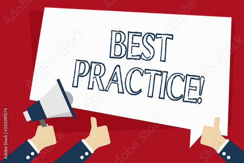 Fotografía  Word writing text Best Practice