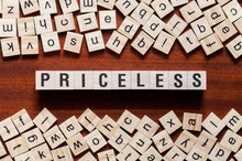 Priceless Word Concept