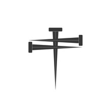 Cross Of Nail. Cross Icon And ...