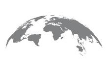 World Map Globe On White Background. Vector