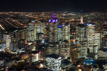 View Of Melbourne From The Top Of A Tower