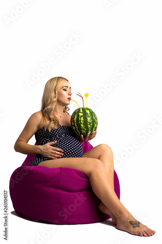 Tremendous Pregnant Girl Is Resting On A Big Soft Ottoman With Uwap Interior Chair Design Uwaporg