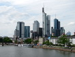 Panorama of the financial district in Frankfurt am Main, Germany