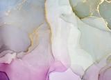 Fluid Art. Kolorowe tło, tapeta. Mieszanie farb akrylowych. Sztuka współczesna. Marmurowa konsystencja Atramenty alkoholowe przezroczyste - 263108745