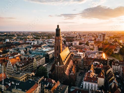 Wrocław Parafia Św. Elżbiety Węgierskiej z powietrza