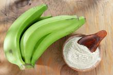 Green Banana Flour On The Table
