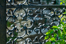 Detail Of A Grid Fence Of Gard...