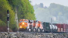 Train Along The Washington Coa...