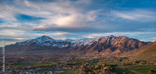 19 April, 2019 sunset over North Ogden, Utah Canvas Print