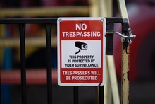 Warning Sign Text No Trespassi...