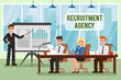 Recruitment Agency Vector Illustration with Text