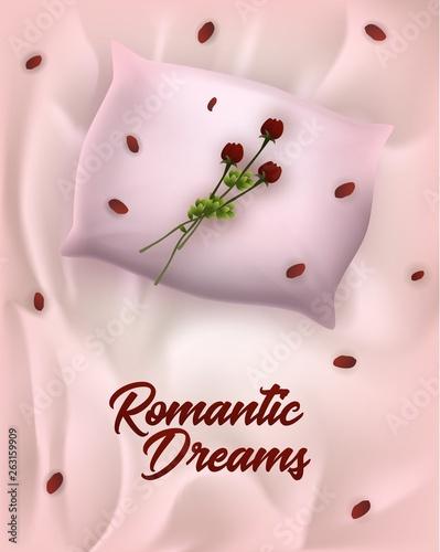 Fashion Advertising Poster Written Romantic Dreams Canvas-taulu
