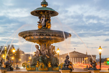 Fontaine Place De La Concorde In Paris France