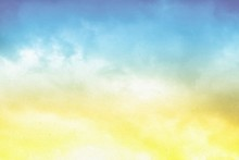 Paper Background With Beautiful Cloudy Sky Texture.