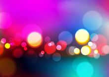 Abstract Blurred Colors Background With Bokeh Light