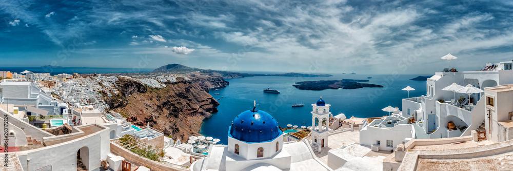 Fototapety, obrazy: Firá, Santorini, Greece