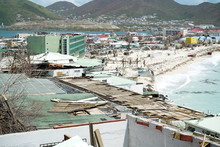 Philipbsburg St.Maarten, Hurricane Irma Causes Damage To The Island Of St.maarten