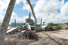 Hurricane Irma Aftermath Destruction To Some Of St.maarten/stmartin Beaches