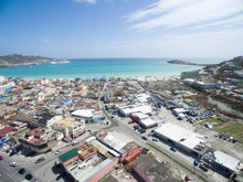 Philipbsburg St.Maarten, Aerial View Of Damages Cause By Hurricane Irma In 2017