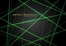 Abstract Green Line Light Lase...