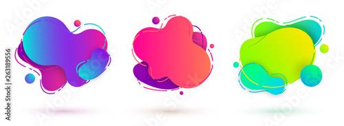 Photo liquid design amoeba banners