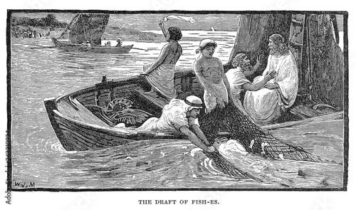 Obraz na plátně  Christian illustration. Old image
