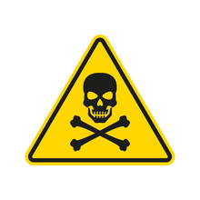 Hazard Or Warning Sign With Sk...