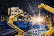 canvas print picture - heavy automation robot arm machine in smart factory industrial,Industry 4.0 concept