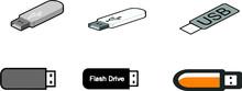 Thumb Drive Icons Set