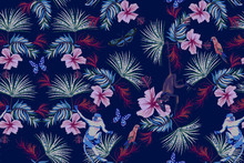 Tropical Night Seamless Patter...