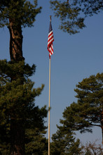 American Flag On Point Alpha Area In Germany