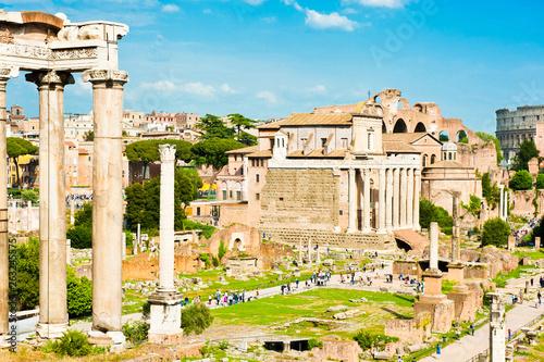 Fotografia, Obraz  Roman Forum in sunny spring day. Rome. Italy