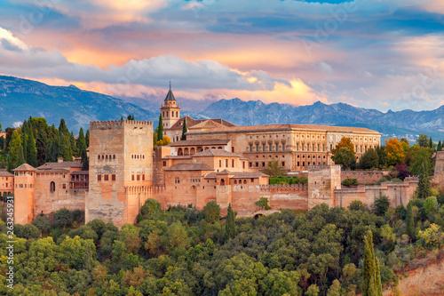 Obraz na plátně Granada. The fortress and palace complex Alhambra.
