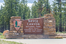 Bryce Canyon National Park Entrance Sign Utah USA