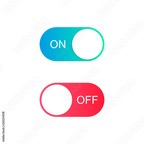Fényképezés  On and Off toggle switch buttons