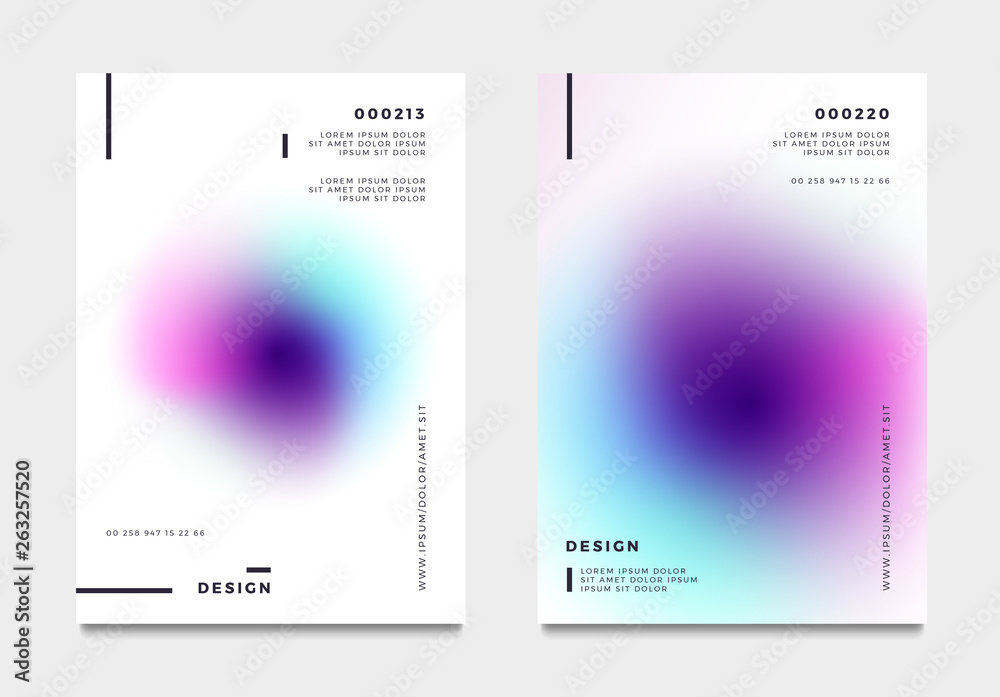 Fototapeta Abstract gradient poster and cover design. Vector illustration.